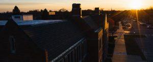 Sun rises over campus