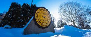 CMU seal in snow Feb. 2021