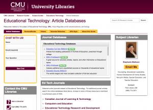 EdTech LibGuide Screenshot
