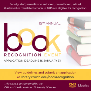 Book Recognition Event - Call for Submissions 2019