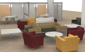 Figure 1. Prototype design for new 3rd floor group study space.