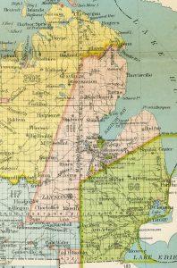 Saginaw Treaty Map