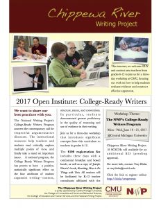 CRWP College Ready Writers Program Flyer